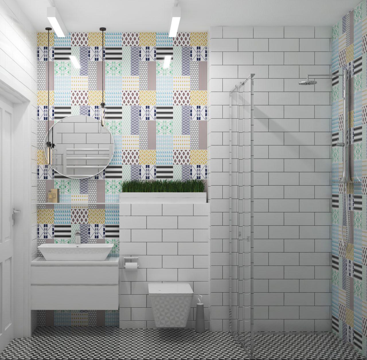 Projekt wnętrza retro-łazienka