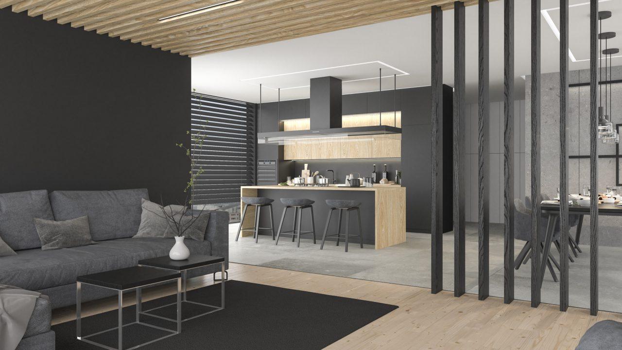 Apartament - salon/kuchnia