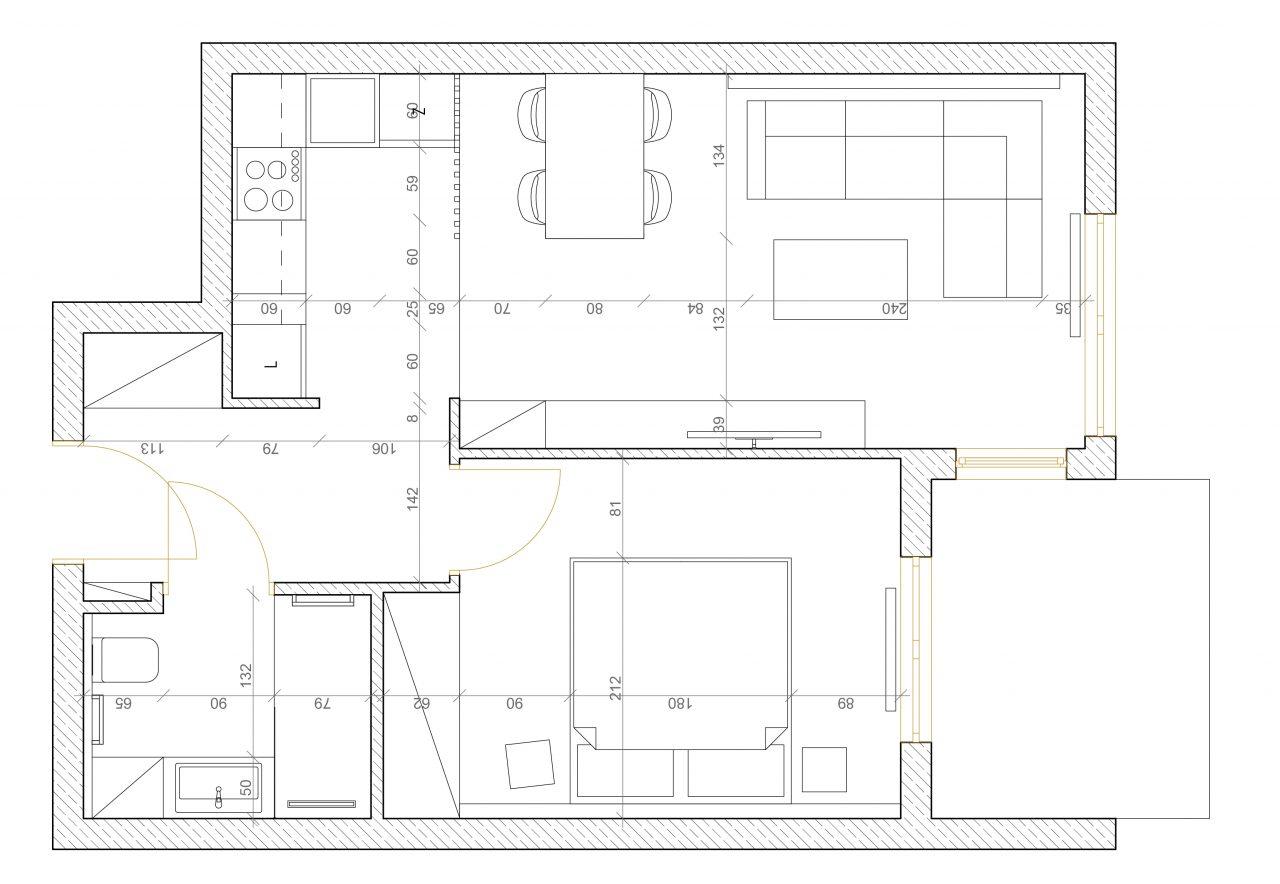 Rzut mieszkania 2D