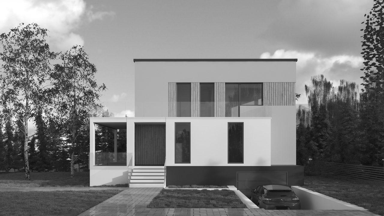 Projekt metamorfozy elewacji budynku pochodzącego z minionej epoki oraz zagospodarowania terenu. pracownia14 Rzeszów