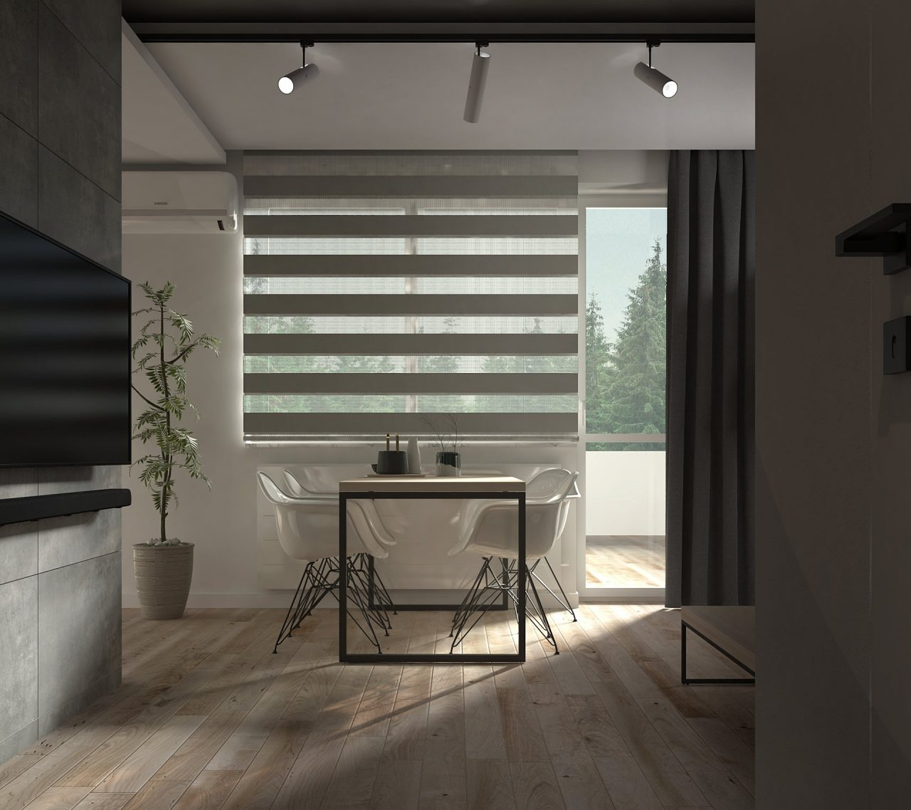 92-minProjekt mieszkania M3