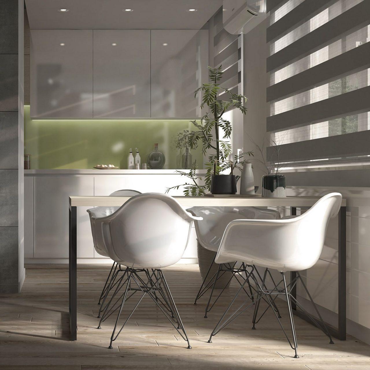 Projekt mieszkania M3 Kuchnia