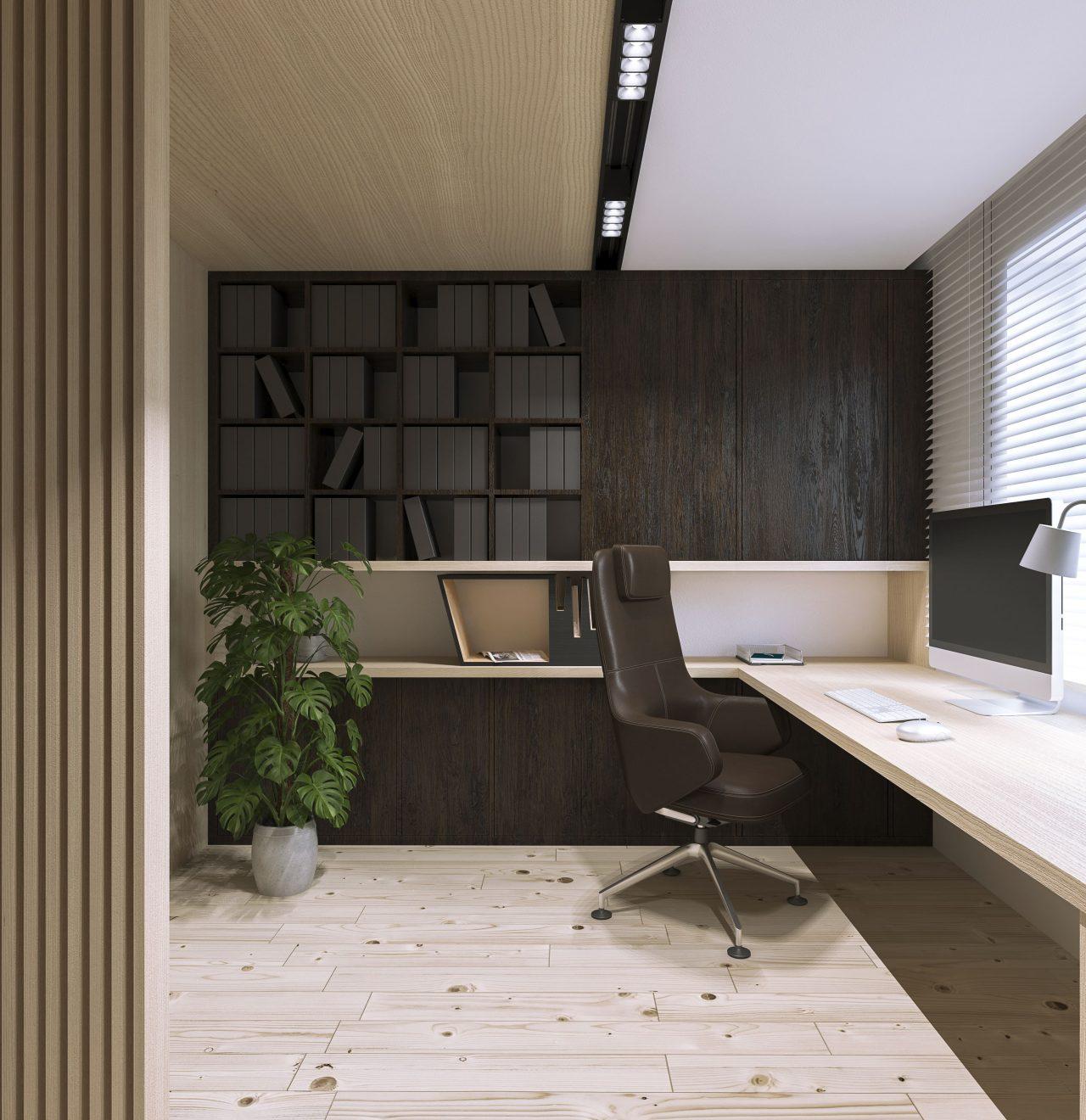 Projekt interior.3_sypialnia_gabinet