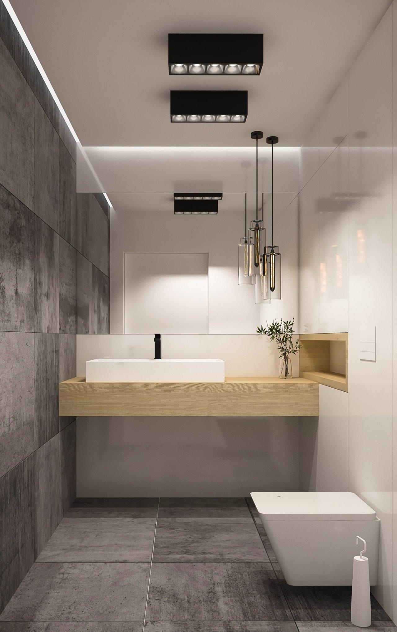 Przestrzeń biurowa - łazienka