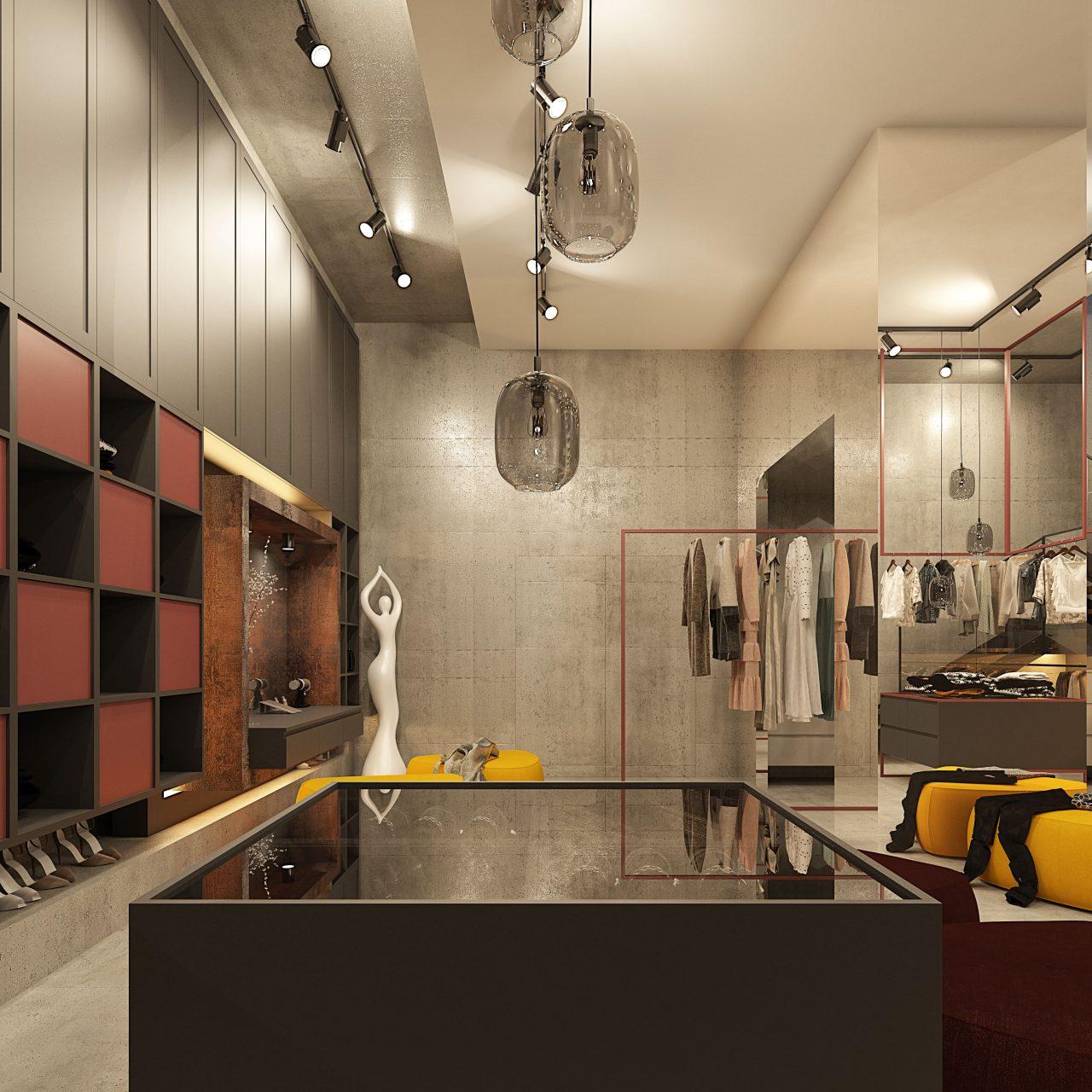 projekt garderoby | wizualizacje
